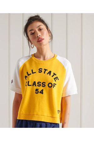 Superdry Dames T-shirts - Collegiate T-shirt van sweatstof met kleurvlakken