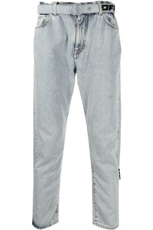 OFF-WHITE Bleach-wash denim jeans