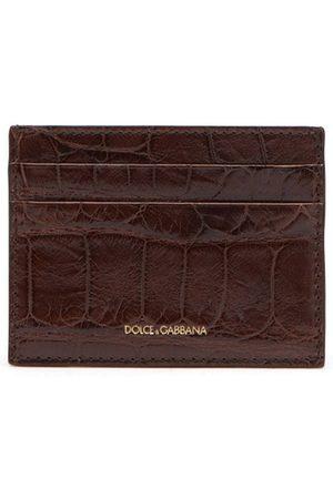 Dolce & Gabbana Heren Portemonnees - Alligator leather cardholder