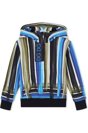 Dolce & Gabbana Painted stripe half-zip hoodie