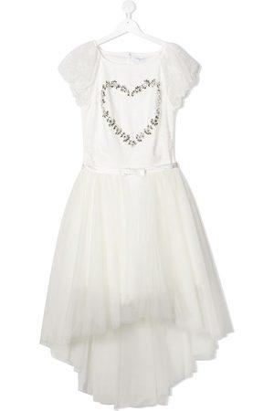 MONNALISA TEEN embellished tulle dress