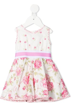 MONNALISA Rose-print sleeveless dress