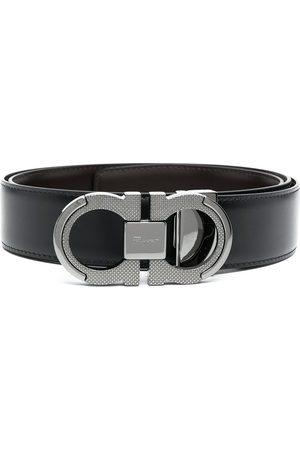 Salvatore Ferragamo Brushed calf leather Gancini belt