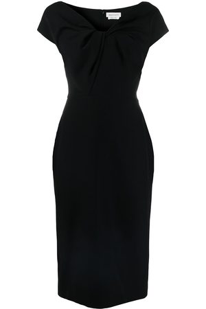 Alexander McQueen Twist-detail midi dress