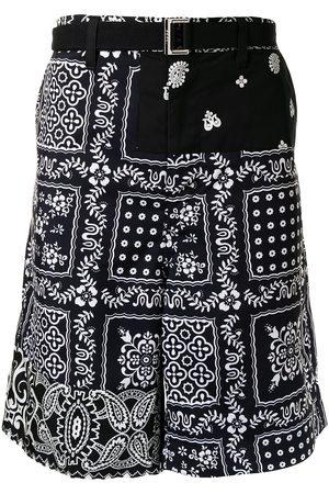 SACAI Bandana-print cargo shorts