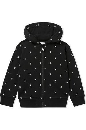 Burberry TEEN star monogram-print hoodie