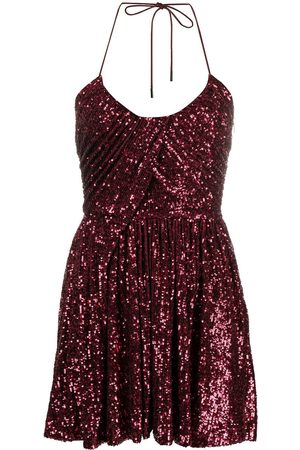 Saint Laurent Sequinned pleated mini dress