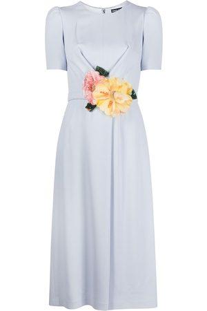 Dolce & Gabbana Floral-appliqué midi dress