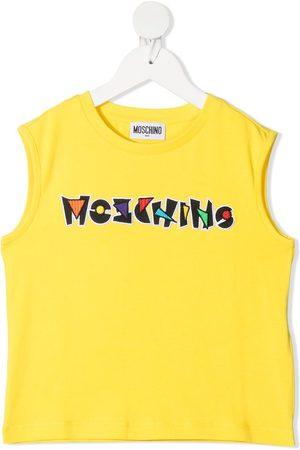 Moschino Logo-embroidered sleeveless t-shirt