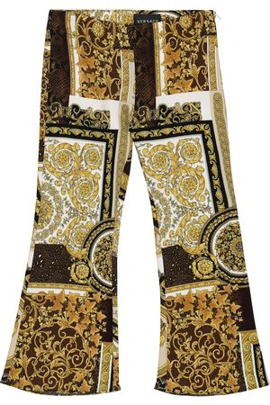VERSACE Barocco Patchwork flared pants