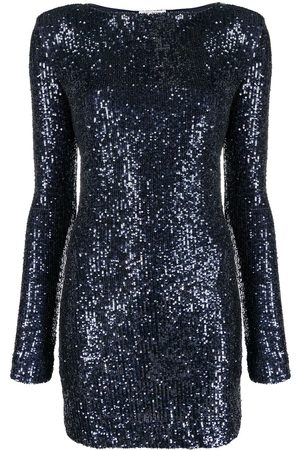 Saint Laurent Long-sleeve sequinned dress