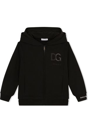 Dolce & Gabbana Logo patch zip-front hoodie