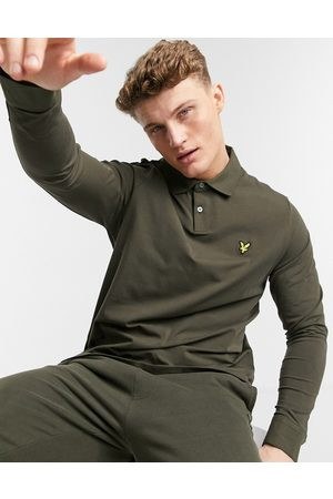 Lyle & Scott Long sleeve polo in green