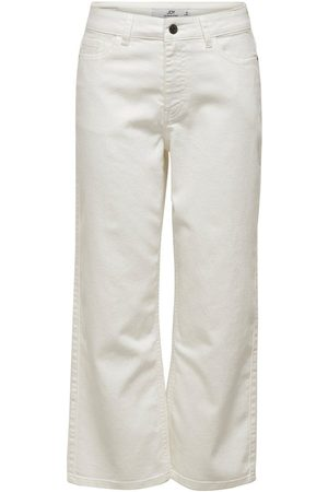 Only Jdyjoleen Life Ankle High-waist Jeans Dames White