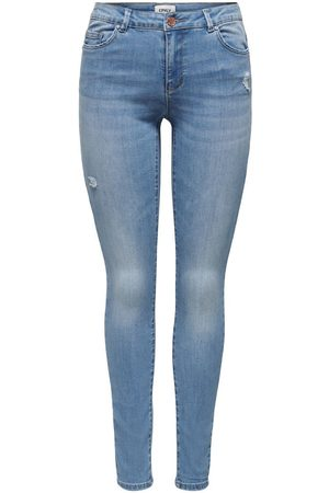 Only Onlwauw Life Mid Destroyed Skinny Jeans Dames