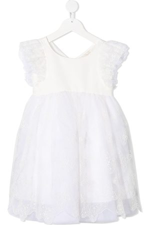 Monnalisa Embroidered tulle dress