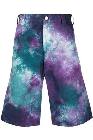 MAUNA KEA Tie-dye print knee-length shorts