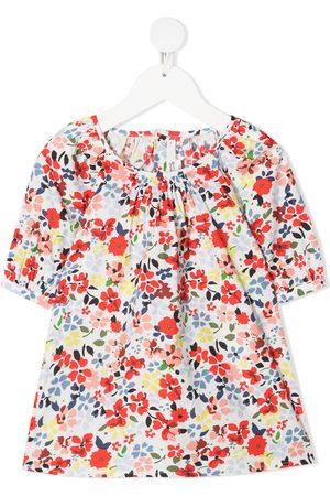 BONPOINT Floral-print short-sleeved blouse