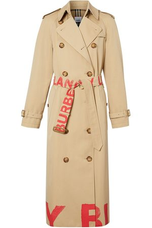 Burberry Logo-print double-breasted trench coat