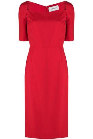 VALENTINO Square-neck midi dress