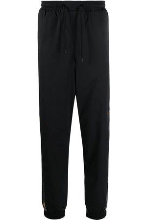Fendi Logo-tape tapered track pants