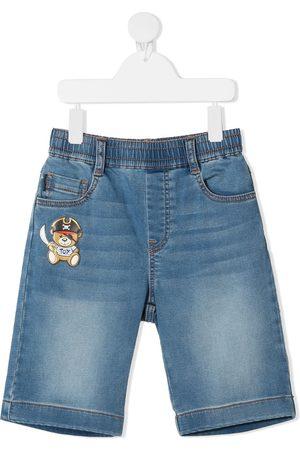 Moschino Pirate Teddy Bear patch denim shorts