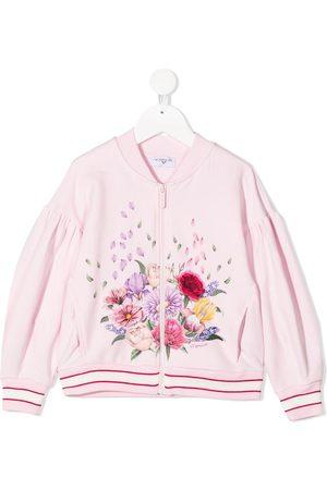 MONNALISA Floral-print bomber jacket
