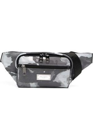 Dolce & Gabbana Logo-plaque camouflage-print belt bag
