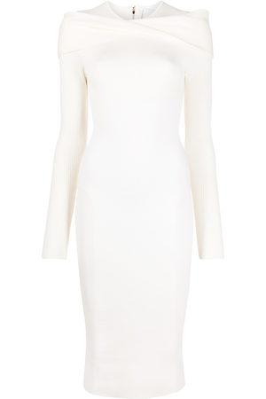 AZ FACTORY MyBody shoulder wrap dress