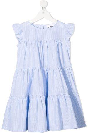 DOUUOD KIDS Pinstripe-ruffle dress