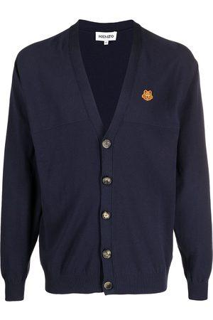 Kenzo Embroidered Tiger V-neck cardigan