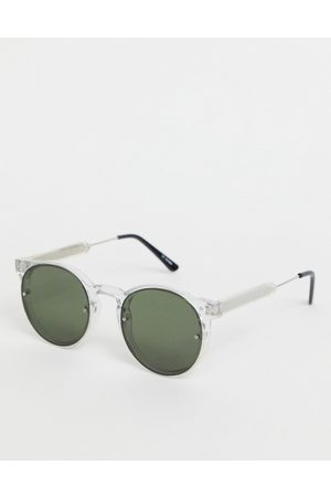 Spitfire Heren Zonnebrillen - Mens Post Punk round sunglasses in clear