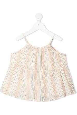 BONPOINT Lurex striped sleeveless blouse