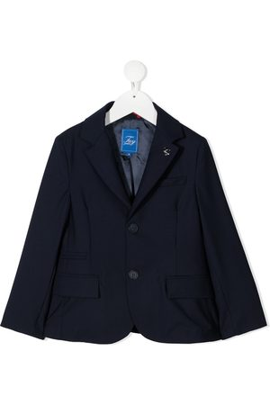 FAY KIDS Fitted single-breasted blazer