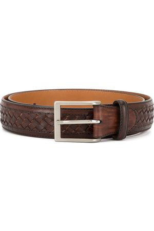 Magnanni Woven-leather belt