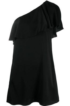 Saint Laurent Ruffled one-shoulder dress