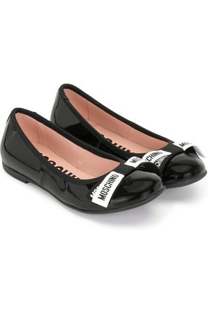 Moschino Kids Bow detail ballerina shoes