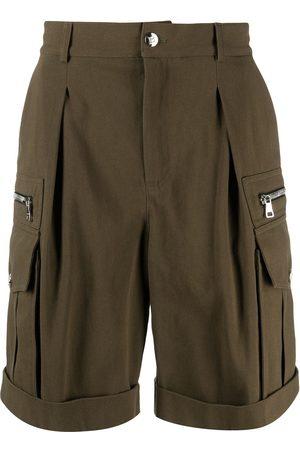 Balmain Zip-detail knee-length shorts