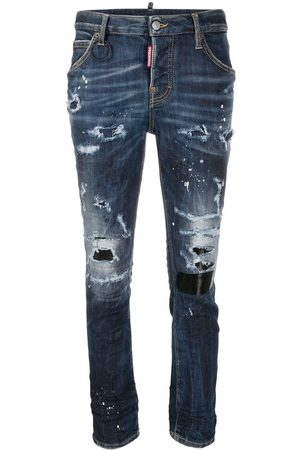 Dsquared2 Stud-embellished ripped jeans