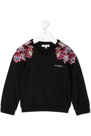 Givenchy Meisjes Sweaters - Embroidered shoulder sweatshirt