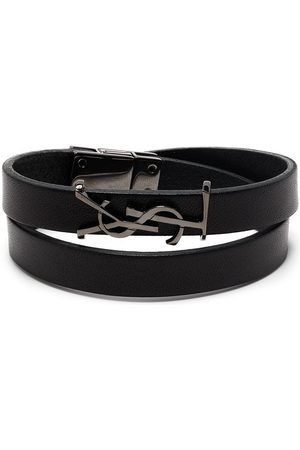 Saint Laurent Opyum logo plaque bracelet