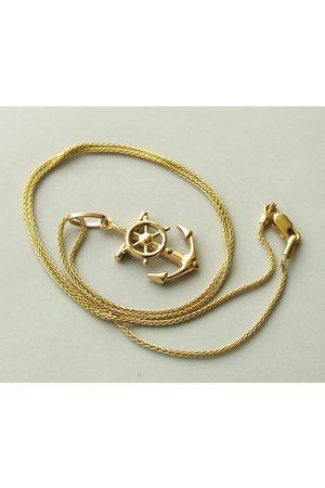 Christian Gouden collier en anker hanger