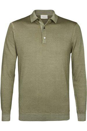 Profuomo Heren Poloshirts - Heren groene lange mouw polo