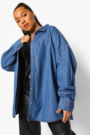 Boohoo Heren Overhemden - Oversized Spijkerblouse