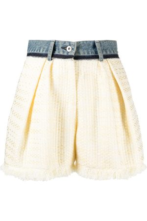 SACAI High-waisted A-line shorts