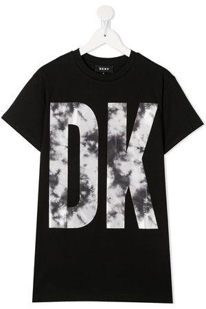 DKNY Meisjes Geprinte jurken - Logo-print T-Shirt dress