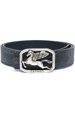 Etro Heren Riemen - Logo-buckle belt