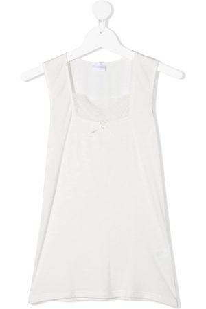La Perla TEEN lace-panel sleeveless top
