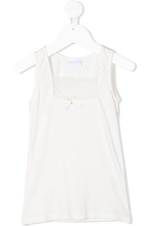 La Perla Lace-panel sleeveless top