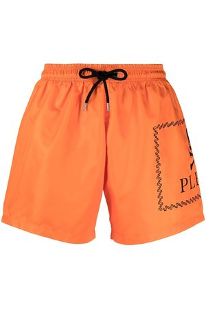 Philipp Plein Heren Shorts - Logo-print swim shorts